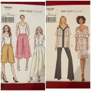 Quantity two very easy vogue patterns